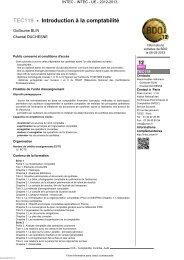 TEC119 - Introduction à la comptabilité - Cnam