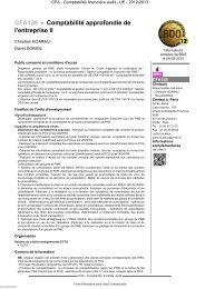 CFA128 - Comptabilité approfondie de l'entreprise II - Cnam