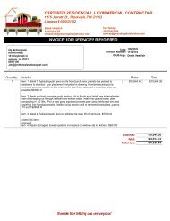 Foundation, Waterproofing and Masonry Repair Invoices 11-8-2011