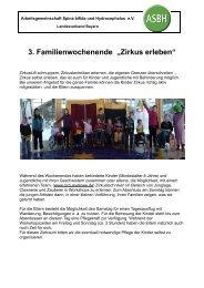 """3. Familienwochenende """"Zirkus erleben"""" - ASBH LV Bayern"""