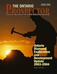 THE ONTARIO - Ontario Prospector's Association