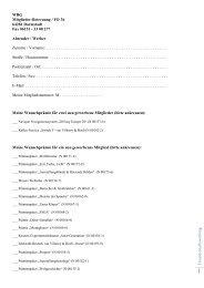 F reu nd sch aftsw erbu ng WBG Mitglieder-Betreuung / FO 36 64281