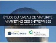 étude du niveau de maturité marketing des entreprises - Groupe ...