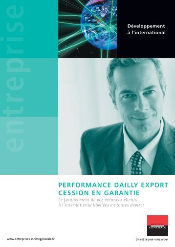 Cession en Garantie - Import-Export Solutions - Société Générale
