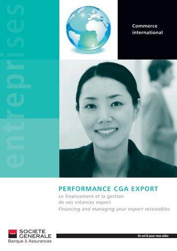 Performance cGa eXPorT - Import-Export Solutions - Société Générale