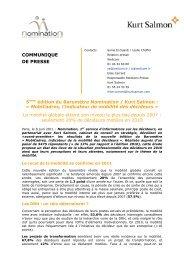 MobiCadres, l'indicateur de mobilité des décideurs - Nomination