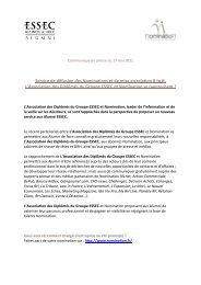L'Association des Diplômés du Groupe ESSEC et Nomination se ...