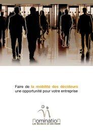 Faire de la mobilité des décideurs une opportunité ... - Nomination