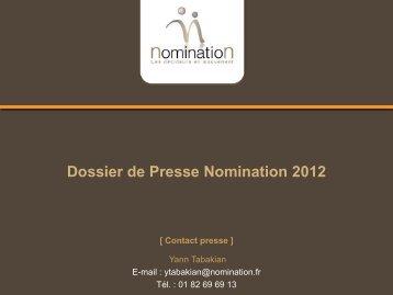 Diapositive 1 - Nomination