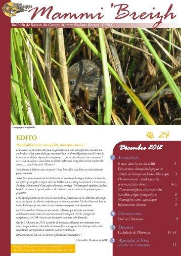Lire le Mammi'Breizh n°24 (janvier 2013). - Groupe Mammalogique ...