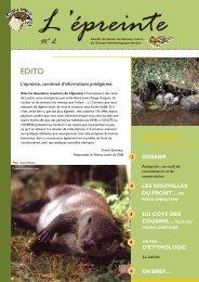 l'Epreinte n°2 - Groupe Mammalogique Breton