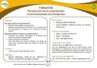 FORMATION Partenariat entre associations d ... - Le GRAINE LR