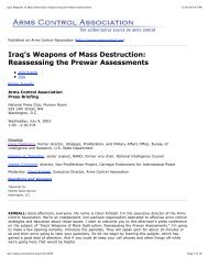 Iraq's Weapons of Mass Destruction_ ... - Leading To War