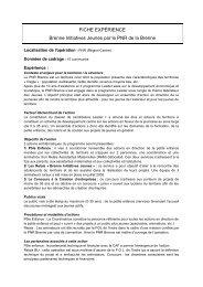 FICHE EXPÉRIENCE Brenne Initiatives Jeunes par le PNR de la ...