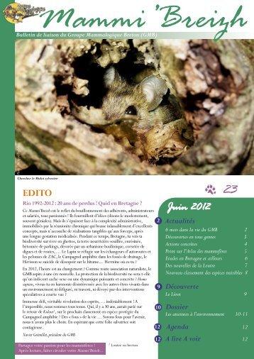 Juin 2012 - Groupe Mammalogique Breton