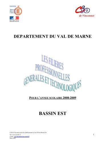 Les filières professionnelles générales et technologiques - Orientation