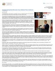 President George Bush Discusses Iraq in National ... - Leading To War