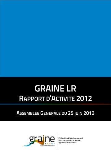 RAPPORT GRAINE LR 2012 - Le GRAINE LR
