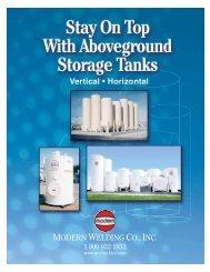 Aboveground Storage Tanks Hor And Ver - Modern Welding Company
