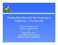 Smoke-free laws and bar revenues in California – The last call