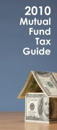 2010 Mutual Fund Tax Guide
