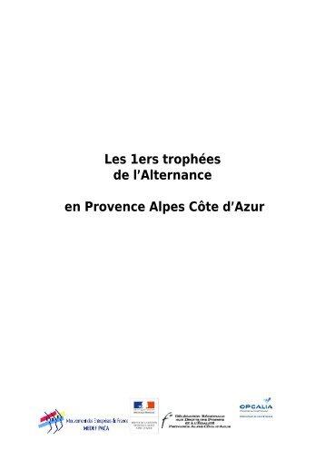 Page 1 Les 1ers trophées de l'Alternance en Provence Alpes Côte d ...