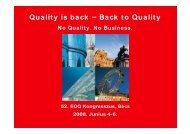 52.EOQ Kongresszus - Quality Austria