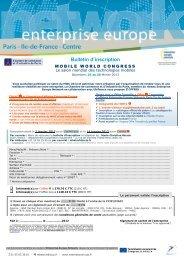 Téléchargez le BULLETIN D'INSCRIPTION - CCI Paris Ile-de-France