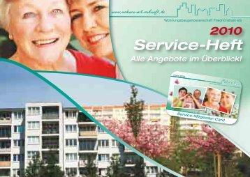 Service-Heft - Wohnungsbaugenossenschaft Friedrichshain eG