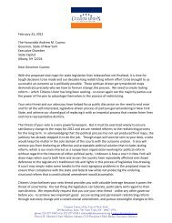 letter to Governor Cuomo - Citizens Union