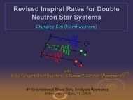 Revised Inspiral Rates for Double Neutron Star Systems - UWM LSC