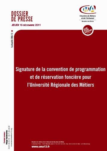 Naissance de l'Université Régionale des métiers - Chambre de ...
