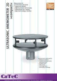 ULTRASONIC ANEMOMETER 2D »compact«