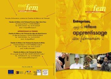 La plaquette METFEM pour les chefs d'entreprises artisanales