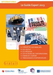 Guide export 2013 - ILE-DE-FRANCE INTERNATIONAL