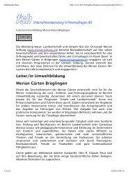 Unbenannte Seite - naturschutz.ch, Natur