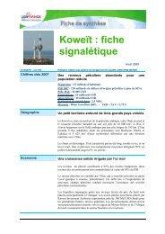 Koweït : fiche signalétique - ILE-DE-FRANCE INTERNATIONAL
