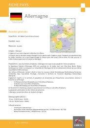 Fiche pays Allemagne 2012 - Veille info tourisme