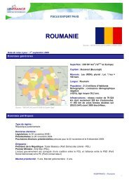 ROUMANIE - ILE-DE-FRANCE INTERNATIONAL