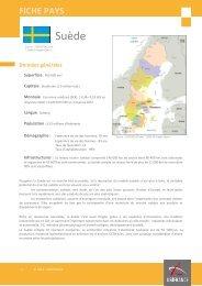 Fiche pays Suède 2012 - Veille info tourisme
