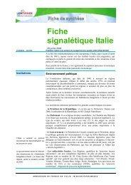 Fiche signalétique Italie - ILE-DE-FRANCE INTERNATIONAL