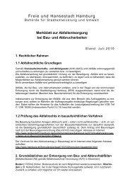 Merkblatt: Abfallentsorgung bei Bau - Hamburg