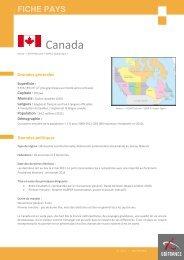 La Fiche Pays Canada - Veille info tourisme