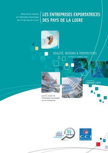 Les entreprises exportatrices des Pays de la Loire - CCI Vendée