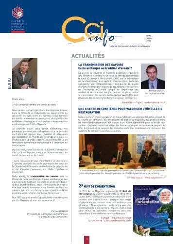 actualités - (CCI) de la Mayenne