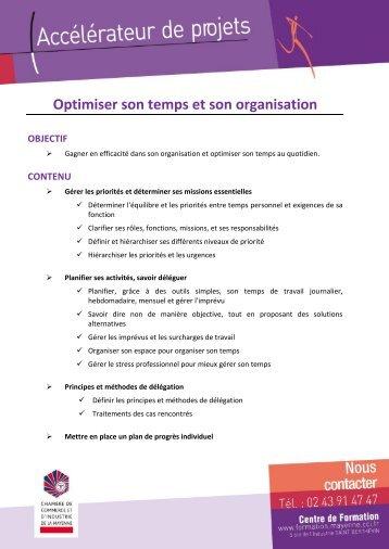 Optimiser son temps et son organisation.pdf - (CCI) de la Mayenne