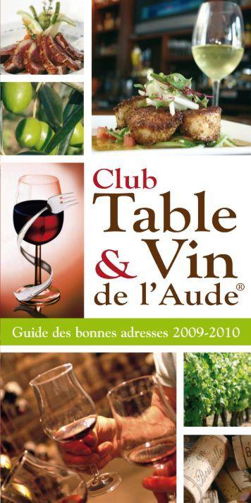 télécharger le Guide 2009-2010 du Club Table & Vin de l'Aude