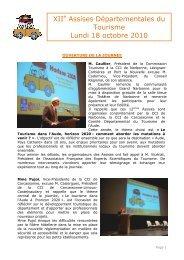 Compte-rendu Assises 2010 - (CCI) de Narbonne, Lézignan ...