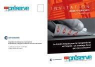 Invitation Préserve.pdf - (CCI) de Narbonne, Lézignan-Corbières et ...
