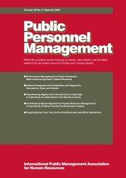 Public Personnel Management - IPMA